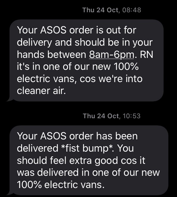asos message example-1
