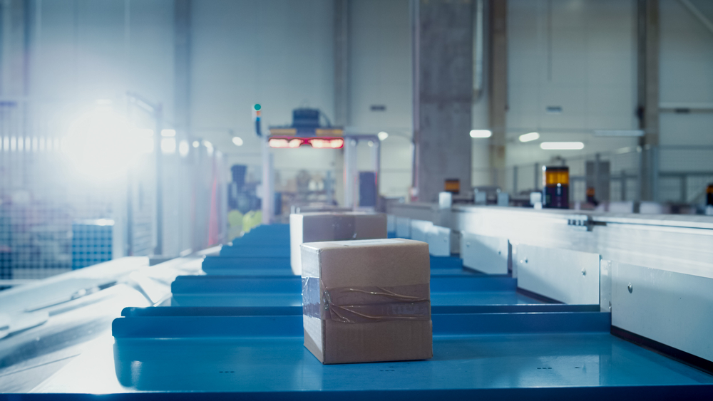 Parcels On Conveyor